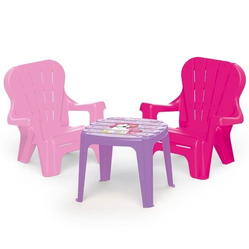 Dolu Unicorn Masa ve 2 li Sandalye Seti 2503
