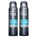 Dove Men Deodorant Sprey Clean Comfort 150 ml x 2 Adet