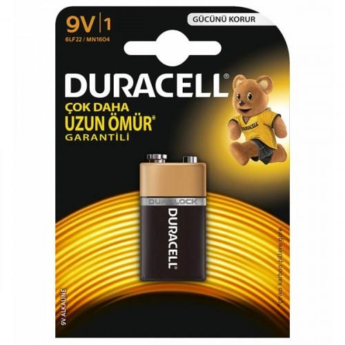 Duracell Alkalin 9 Volt Pil Tekli Paket