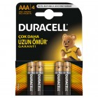 Duracell Alkalin AAA İnce Kalem Pil 4 lü Paket