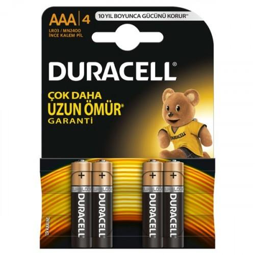 Duracell Alkalin AAA İnce Kalem Pil 4 lü Paket