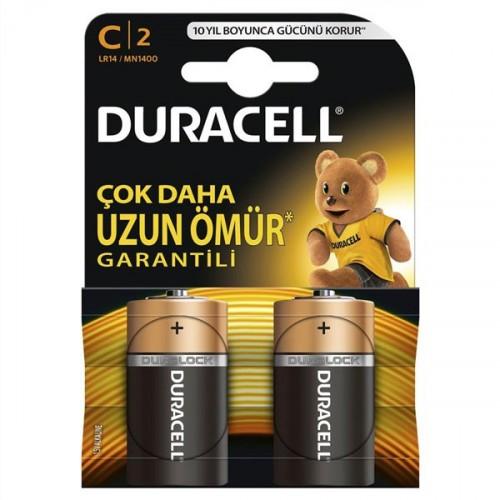 Duracell Alkalin D Büyük Boy Pil 2 li Paket