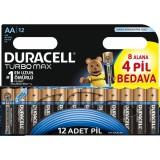 Duracell Turbo Max AA Kalem Pil 8+4 Adet (12'li Paket)