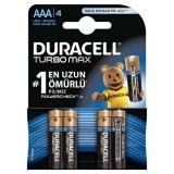 Duracell Turbo Max İnce Kalem Pil AAA 4 lü Paket