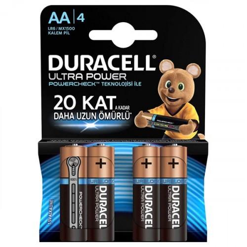 Duracell Ultra Power Kalem Pil AA 4 lü Paket