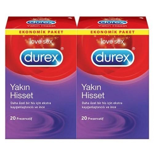 Durex Yakın Hisset Kondom 20 li x 2 Adet