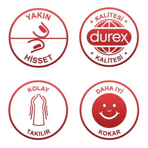 Durex Yakın Hisset Kondom 20 li x 3 Adet (60 Adet)