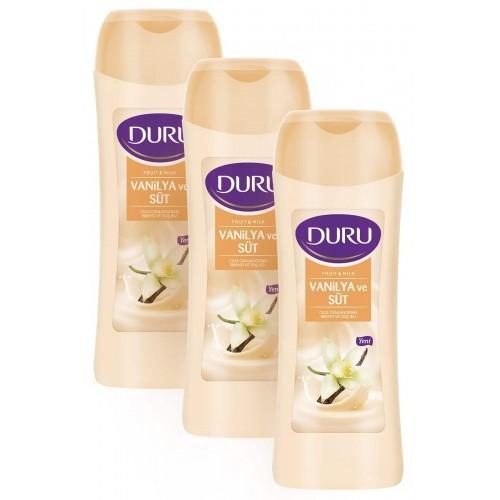 Duru Fruit & Milk Vanilya ve Süt Duş Jeli 3 x 450 ml