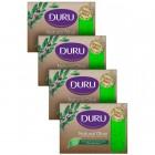 Duru Natural Olive Zeytinyağı Özlü Yapraklı Banyo Sabunu 640 gr 4'lü