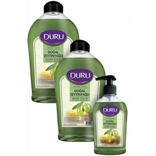 Duru Natural Olive Zeytinyağlı Sıvı Sabun 1500 + 1500 + 300 ml