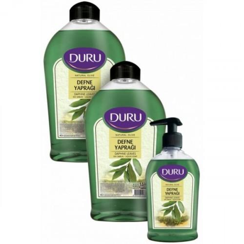 Duru Sıvı Sabun Natural Olive Defne Yaprağı 1500 + 1500 + 300 ml