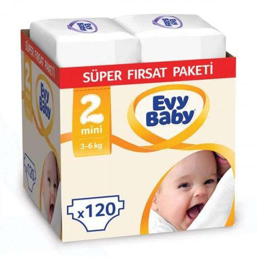 Evy Baby Bebek Bezi 2 Beden Mini Süper Fırsat Paketi 240 Adet