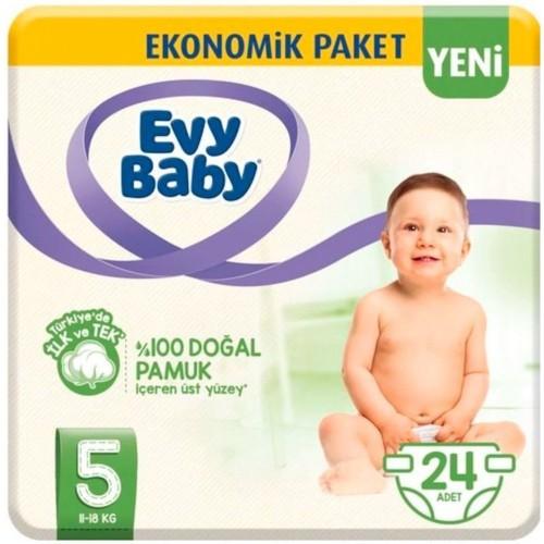 Evy Baby Bebek Bezi 5 Beden Junior 24 lü