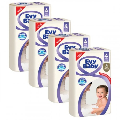 Evy Baby Bebek Bezi Jumbo Maxi 4 Beden 45 li x 4 Adet