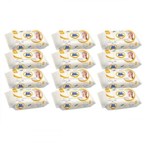 Evy Baby Islak Havlu Soft Kapaklı 56 lı x 12 Adet