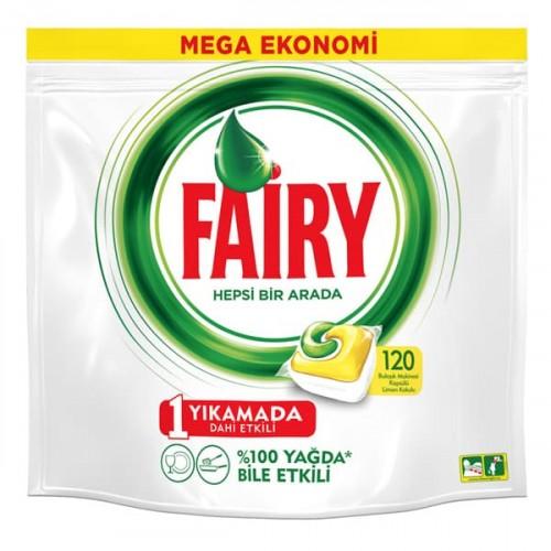 Fairy Bulaşık Makinesi Kapsülü Hepsi Bir Arada 120 li
