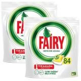 Fairy Hepsi Bir Arada 168 Yıkama Bulaşık Makinesi Deterjanı Limonlu