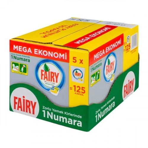 Fairy Platinum Bulaşık Makinesi Deterjanı Kapsülü Limon Kokulu 125 li