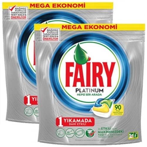 Fairy Platinum Bulaşık Makinesi Kapsülü 90 lı x 2 Adet