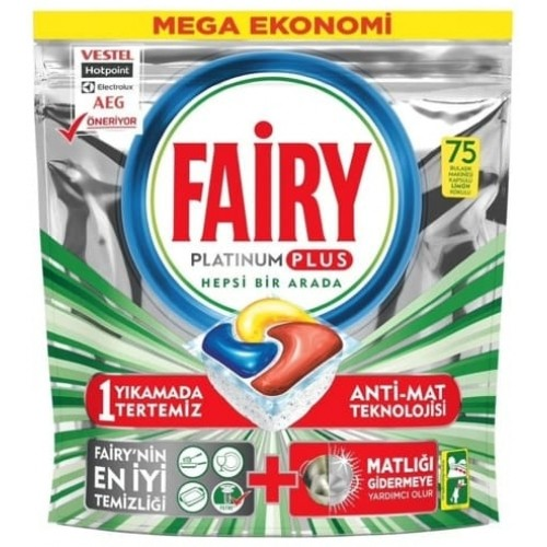 Fairy Platinum Plus Bulaşık Makinesi Tableti 75 li