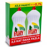 Fairy Sıvı Bulaşık Deterjanı Limon Özel Paket (2 x 1350 ml)