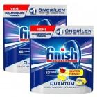 Finish Quantum Bulaşık Makinesi Deterjanı Limon Tablet 60 lı x 2 Adet