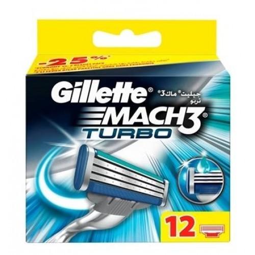 Gillette Mach3 Turbo Yedek Başlık 12 li