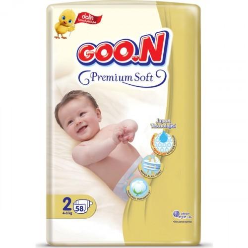 Goon Premium Soft Bebek Bezi 2 Beden Jumbo Paket 58 Adet