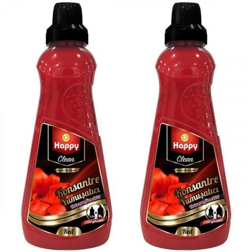 Happy Clean Konsantre Yumuşatıcı Red 1500 ml x 2 Adet