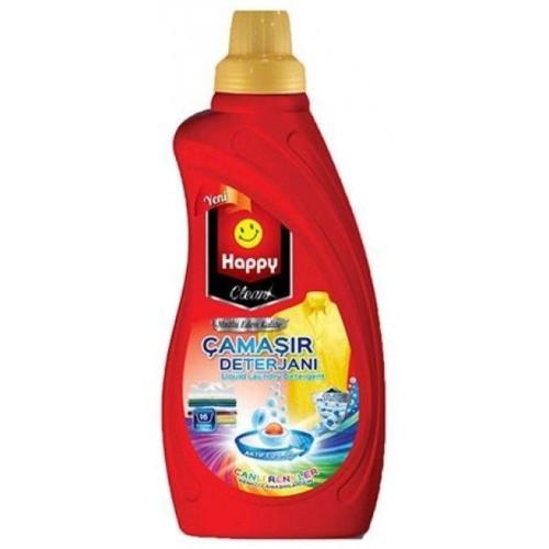 Happy Clean Sıvı Çamaşır Deterjan Canlı Renkler 1 lt