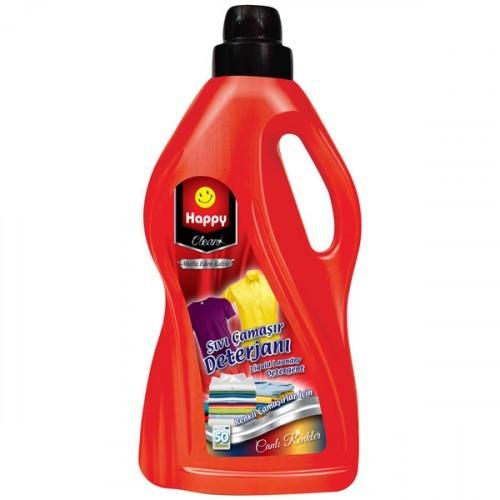 Happy Clean Sıvı Çamaşır Deterjanı Canlı Renkler 3 lt