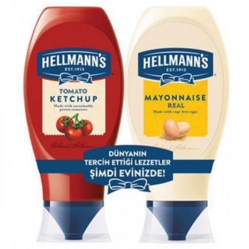Hellmanns Ketçap 480  gr + Mayonez 395 gr Orta Set