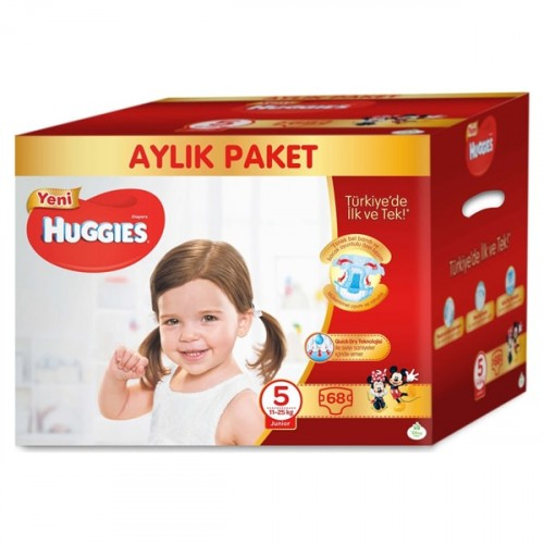 Huggies Bebek Bezi Aylık Paket Junior 5 Beden 68 li