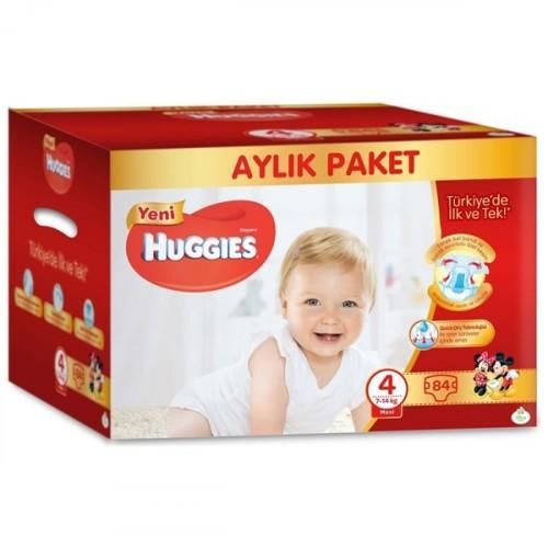 Huggies Bebek Bezi Aylık Paket Maxi 4 Beden 84 lü