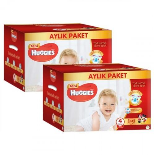 Huggies Bebek Bezi Aylık Paket Maxi 4 Beden 84 lü x 2 Adet