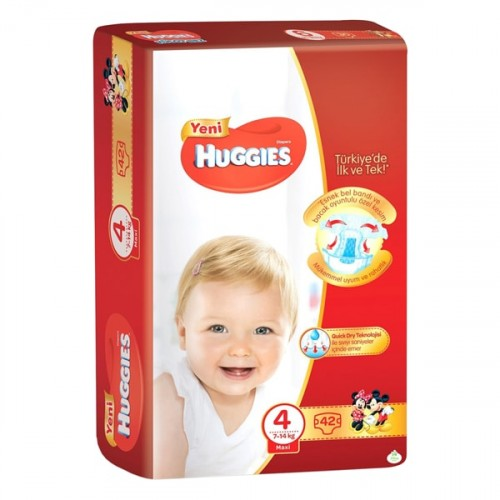 Huggies Bebek Bezi Jumbo Maxi 4 Beden 42 li