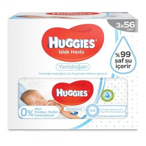 Huggies Islak Havlu Yenidoğan 56 lı (3 lü Paket)