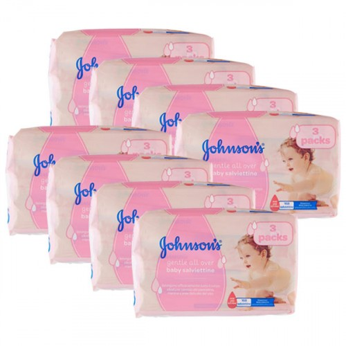 Johnsons Baby Islak Mendil Hassas 3 lü Paket x 8 Adet (1344 Yaprak)
