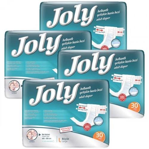 Joly Belbantlı Yetişkin Hasta Bezi Büyük 30 lu x 4 Adet