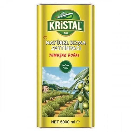Kristal Natürel Sızma Zeytinyağı Yumuşak Doğal Teneke 5 lt