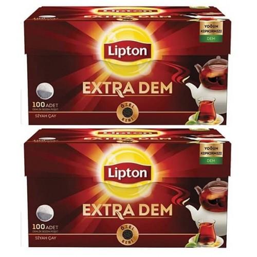 Lipton Demlik Poşet Çay Extra Dem 100 lü 320 gr x 2 Adet