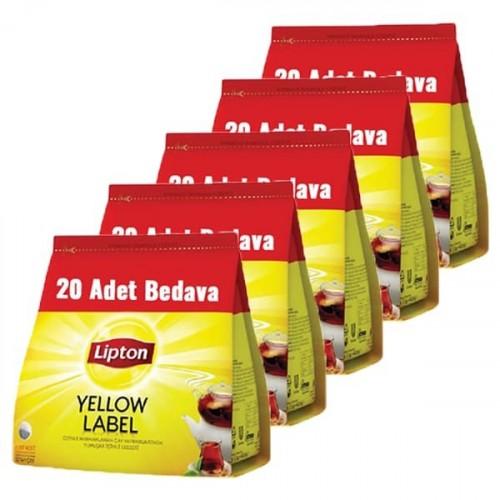 Lipton Demlik Poşet Çay Yellow Label 120 li x 5 Adet