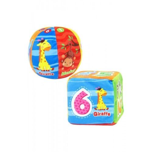 Love Baby 2'li Yumuşak Eğitici Top ve Küp