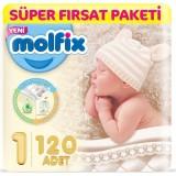 Molfix Bebek Bezi 1 Beden Yenidoğan Süper Fırsat Paketi 120 Adet