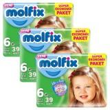 Molfix Bebek Bezi Dev Eko Extra Large 6 No 39 lu x 3 Adet