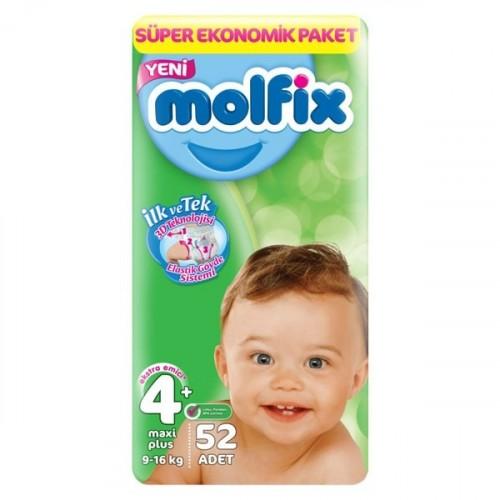 Molfix Bebek Bezi 4+ Beden Maxi Plus Dev Ekonomik Paket 52 adet