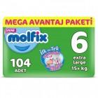 Molfix Bebek Bezi Mega Avantaj Paketi Extra Large 6 No 104 lü