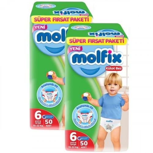 Molfix Pants Külot Bezi Süper Fırsat Ekstra Large 6 No 50 li x 2 Adet
