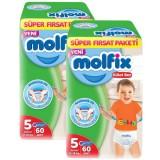 Molfix Pants Külot Bezi Süper Fırsat Junior 5 Beden 60 lı x 2 Adet