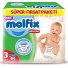 Molfix Pants Külot Bezi Süper Fırsat Paketi Midi 3 Beden 94 lü